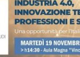 Industria 4.0, innovazione tecnologica, professioni e società: una opportunità per l'Italia e per il Sud