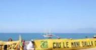 Flash Mob Legambiente contro il progetto di ripascimento del litorale salernitano da Pontecagnano a Paestum