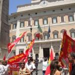 Lavoratori Rdb davanti al Ministero della Pubblica Istruzione